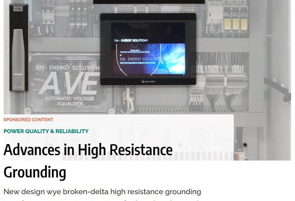 Advances in High Resistance Grounding – News article