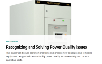 Recognizing and Solving Power Quality Issues -News Article